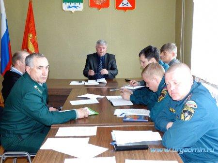Расширенное заседание комиссии по предупреждению и ликвидации чрезвычайных ситуаций и обеспечению пожарной безопасности Юргамышского района
