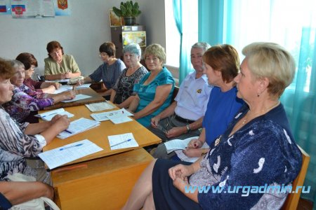 Встреча председателя территориальной избирательной комиссии Юргамышского района с ветеранами