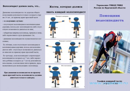 Информация по велосипедистам